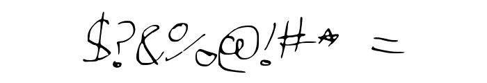 GeorgesNotes Font OTHER CHARS