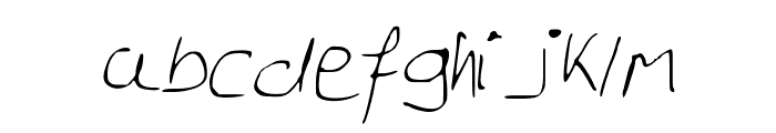 GeorgesNotes Font LOWERCASE