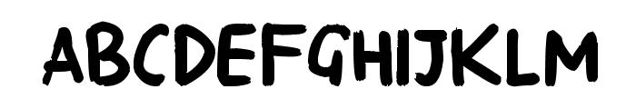 Georginas Hand Font UPPERCASE
