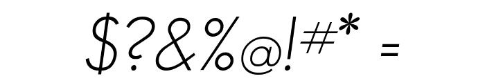 GeosansLight-Oblique Font OTHER CHARS