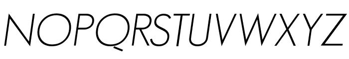 GeosansLight-Oblique Font UPPERCASE