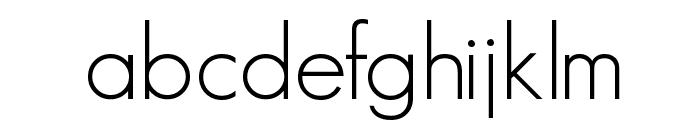 GeosansLight Font LOWERCASE