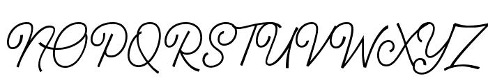 Geraldyne Demo Regular Font UPPERCASE