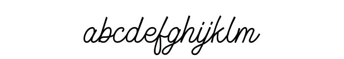 Geraldyne Demo Regular Font LOWERCASE