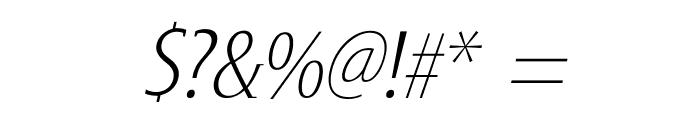 GershwinLightOblique Font OTHER CHARS