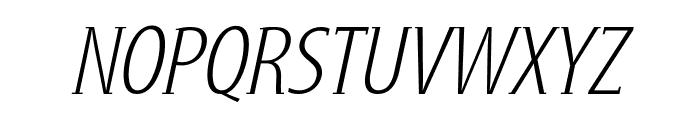 GershwinLightOblique Font UPPERCASE
