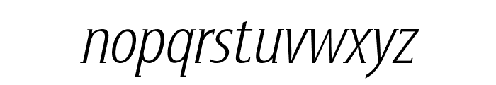 GershwinLightOblique Font LOWERCASE