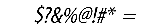 GershwinOblique Font OTHER CHARS