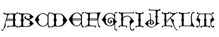 Geschlossen Gotik Kaps Font LOWERCASE