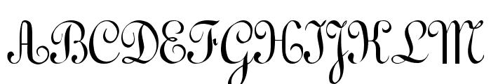 Gessele Regular Font UPPERCASE