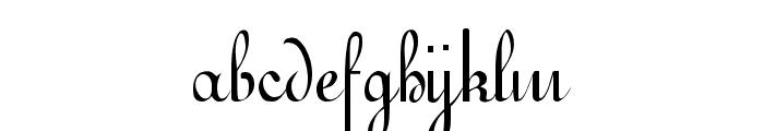 Gessele Regular Font LOWERCASE