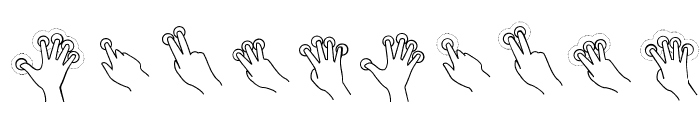 Gesture Glyphs Font OTHER CHARS