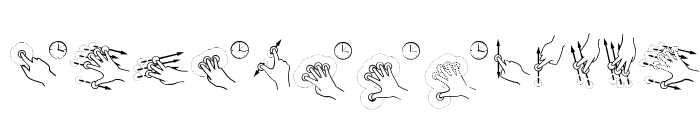 Gesture Glyphs Font LOWERCASE