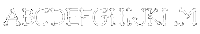 Get A Grip  Novelty Font UPPERCASE