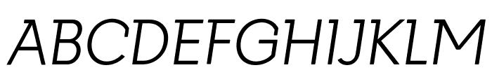 Getho Light Italic Font UPPERCASE