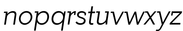 Getho Light Italic Font LOWERCASE