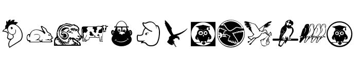 GetierAnimalish Font LOWERCASE