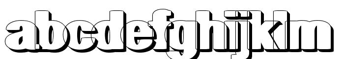 geometric RegularShadow Font LOWERCASE