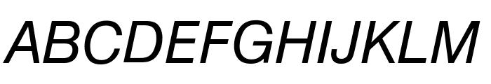 Geneva Oblique Font UPPERCASE