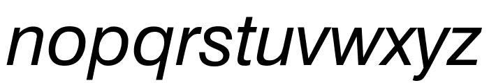 Geneva Oblique Font LOWERCASE