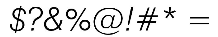 GenevaLght Oblique Font OTHER CHARS