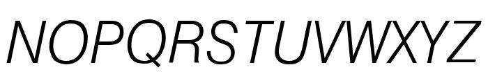 GenevaLght Oblique Font UPPERCASE