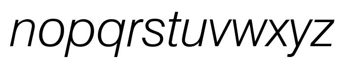 GenevaLght Oblique Font LOWERCASE
