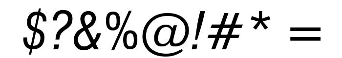 GenevaNrw Oblique Font OTHER CHARS