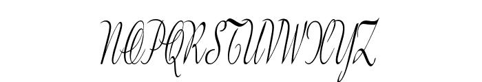 GershwinScript-ExtraCondItalic Font UPPERCASE