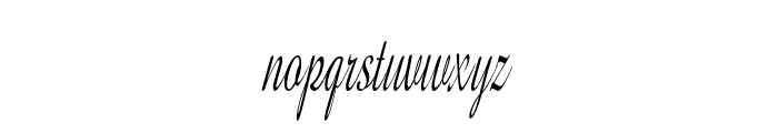 GershwinScript-ExtraCondItalic Font LOWERCASE
