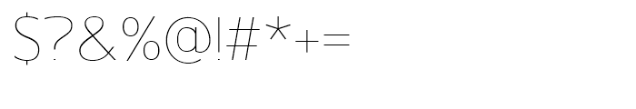 Gelder Sans Thin Font OTHER CHARS