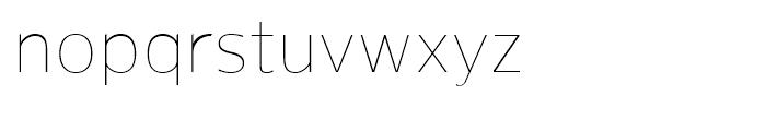 Gelder Sans Thin Font LOWERCASE