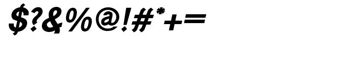 Generation Gothic Bold Italic Font OTHER CHARS