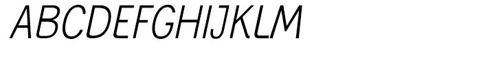 Generation Gothic Condensed Light Italic Font UPPERCASE