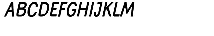 Generation Gothic Condensed Medium Italic Font UPPERCASE