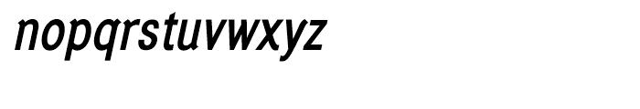 Generation Gothic Condensed Medium Italic Font LOWERCASE