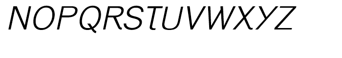 Generation Gothic Light Italic Font UPPERCASE