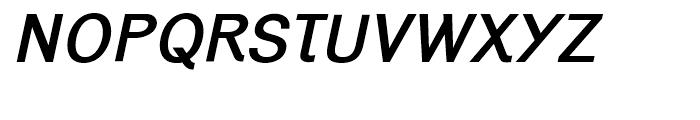 Generation Gothic Medium Italic Font UPPERCASE