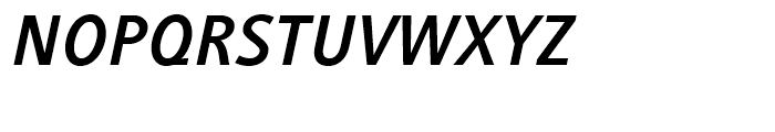 Generis Sans Bold Italic Font UPPERCASE