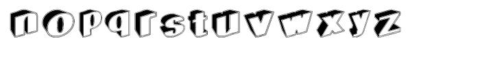 Geodec Egiptian Regular Font LOWERCASE