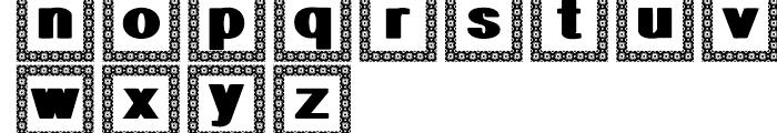 Geodec Minuskel Decorative Font UPPERCASE
