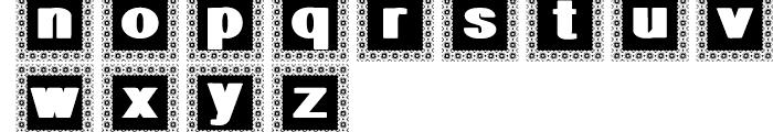 Geodec Minuskel Decorative Font LOWERCASE