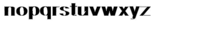 Geodec N 9 Lined Font LOWERCASE