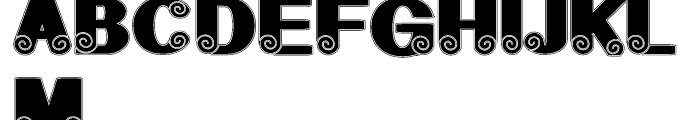 Geodec Spyral Regular Font UPPERCASE