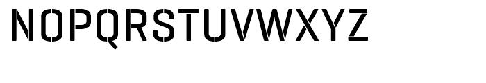 Geogrotesque Stencil A Medium Font UPPERCASE