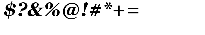 Georgia Bold Italic Font OTHER CHARS
