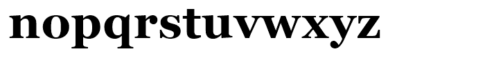 Georgia Bold Font LOWERCASE