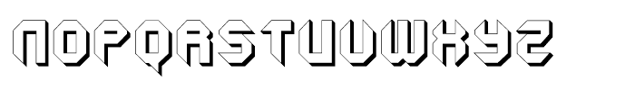 Geta Robo Closed Extruded Font UPPERCASE