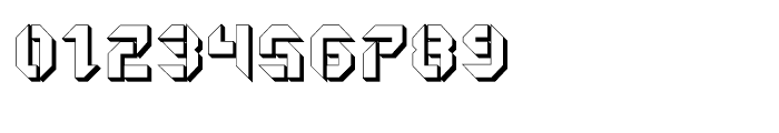 Geta Robo Open Extruded Font OTHER CHARS