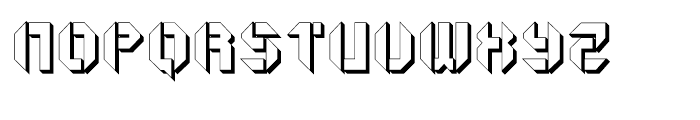 Geta Robo Open Extruded Font UPPERCASE